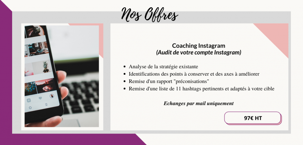 offres coaching instagram Nyna Communication